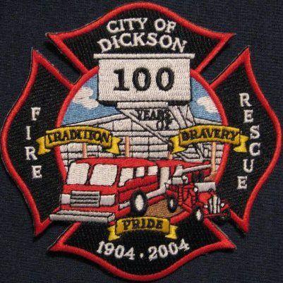 Dickson Fire Department - Dickson, Tennessee #fire #patches #setcom  http://setcomcorp.com/firewireless.html