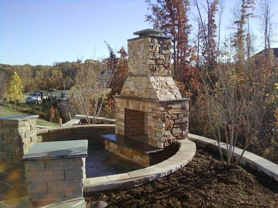 Outdoor fireplace plans, House plans and Homemade on Pinterest