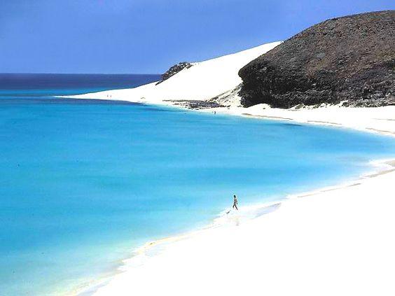 Playa Mal Nombre, Fuerteventura. Islas Canarias - España .