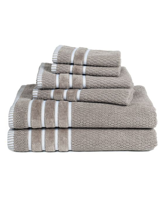 Look what I found on #zulily! Taupe Lavish Home Egyptian Cotton Towel Set by Lavish Home #zulilyfinds