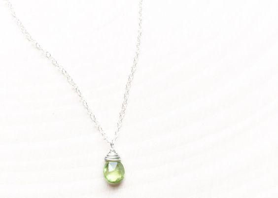 Peridot in August Simple Dainty Elegant by honeysheaSTUDIOS