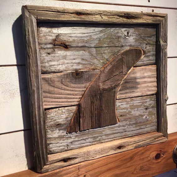 Reclaimed Driftwood surf art  J'sMADE