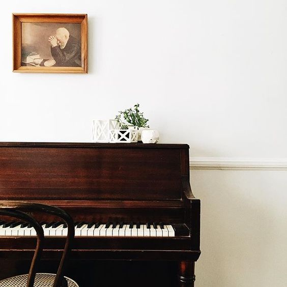 Classic piano space.: