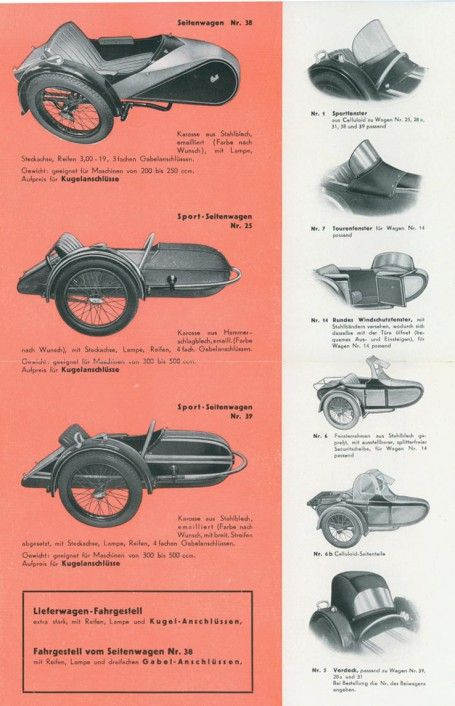 Steib sidecar catalog, German text, for 1939 season, inside page_1