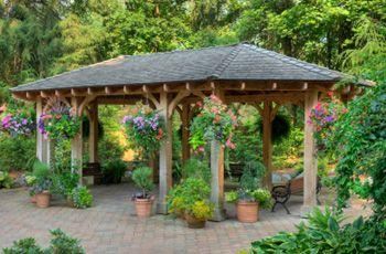 The shape decks and flower on pinterest for Build your own gazebo free plans