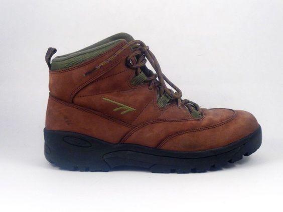 HI-TEC Mens Hiking Boots Monte Vista Brown Suede Size 9 Shoes #HiTEC #HikingTrail