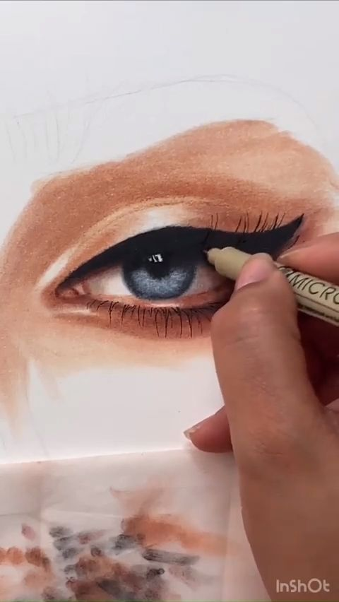 Gorgeous Art Eye Makeup Drawing Artdrawing Artmakeup