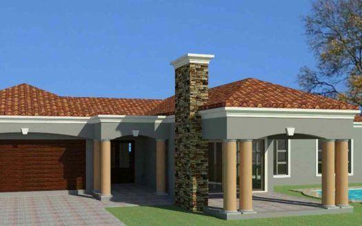 A Beautiful Single Story House Plan 3 Bedroom House Nethouseplansnethouseplans House Plans South Africa Single Storey House Plans Tuscan House Plans