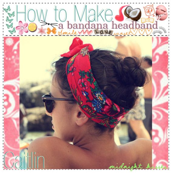 """""""How to make a Bandana Headband;;"""" by tip-tastic ❤ liked on Polyvore"""