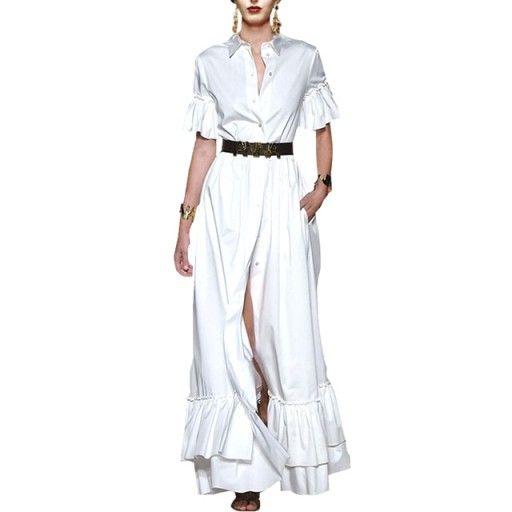 Wloska Maxi Sukienka Boho Falbana Kolory Anna Xl 7256601286 Oficjalne Archiwum Allegro Dresses Fashion Maxi Skirt