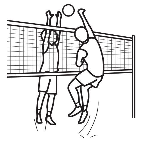 Volleyball Coloring Pages Volleyball To Color