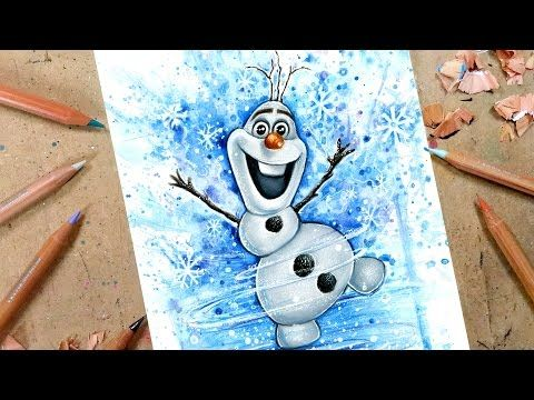 Drawing Olaf From Frozen Advent Day 3 Youtube Disney Character Drawings Olaf Drawing Frozen Drawings