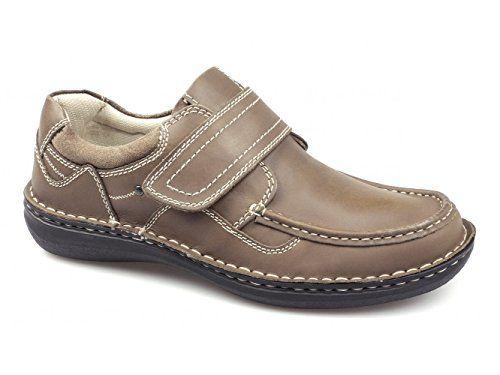 Dr Keller PLUTO Mens Leather Velcro Shoes Tan - http://on-line-kaufen.de/dr-keller/dr-keller-pluto-mens-leather-velcro-shoes-tan