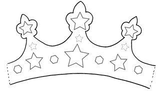 Moldes de coroas para o Dia de Reis