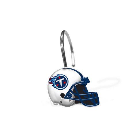 Tennessee Titans Tennessee Titans Titan Helmet Shower Curtain Rings