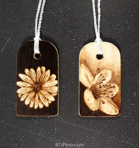 Flowers - mini woodburnings by brandojones.deviantart.com on @DeviantArt