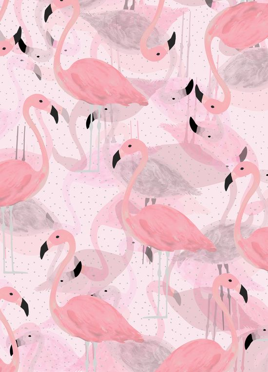 Flamingo Pattern Art Print:
