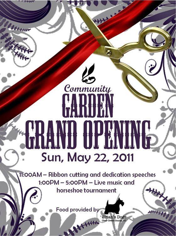 Community Garden Grand Opening Postcard ideas Pinterest - grand opening flyer
