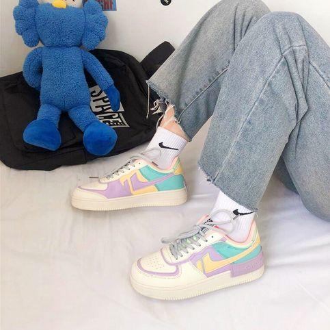 Macaroon Pastel Color Block Sneakers