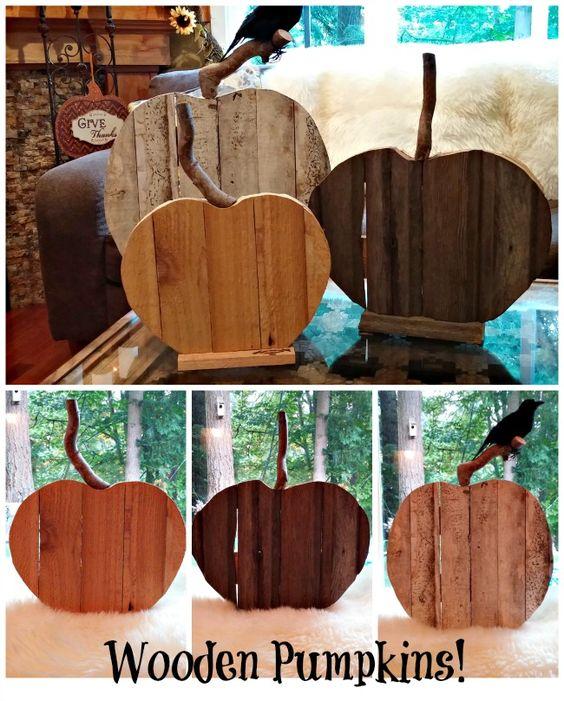 Rustic Fall Pumpkin Decor Using Reclaimed Wood!