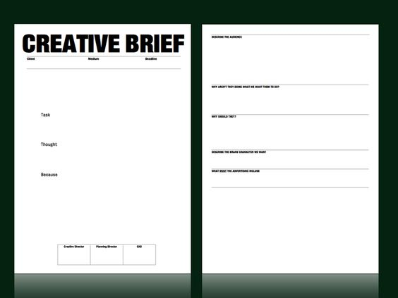 Creative brief template from m c saatchi strategy for Photo brief template