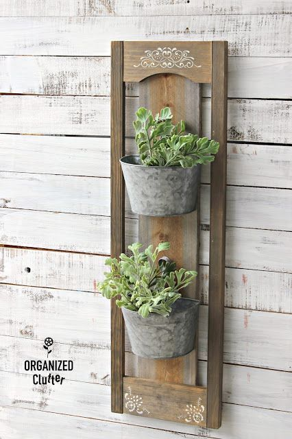Rustic Diy Wall Planter For Inside Or Outside With Images Diy Wall Planter Diy Rustic Wall Rustic Wall Decor Diy