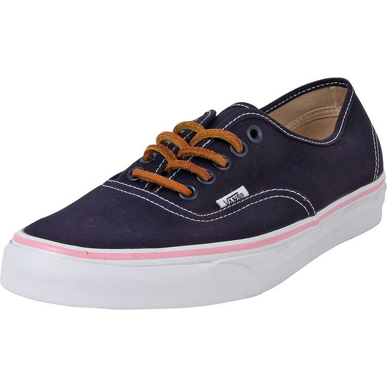 - Canvas upper in dress blues - Low cut construction - Lace up closure for a secure fit - Twin-needle reinforced stitching on vamp and heel - Cushioned footbed for comfort - Vans signature gum rubber
