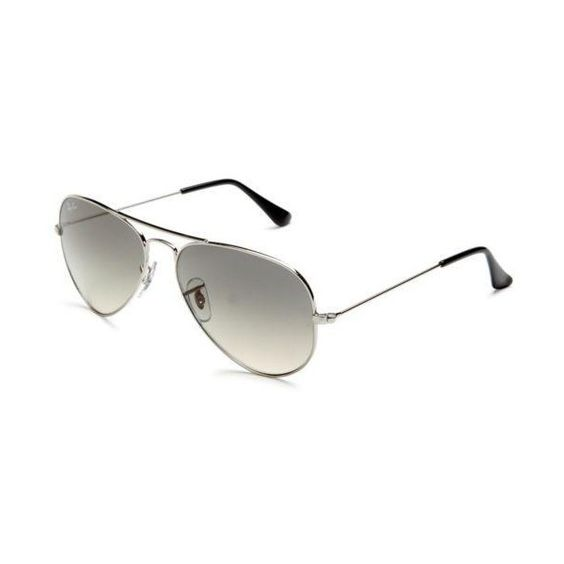 ray ban unisex rb3025 large metal  ray ban rb 3025 large aviator 003/32 shiny silver metal sunglasses.