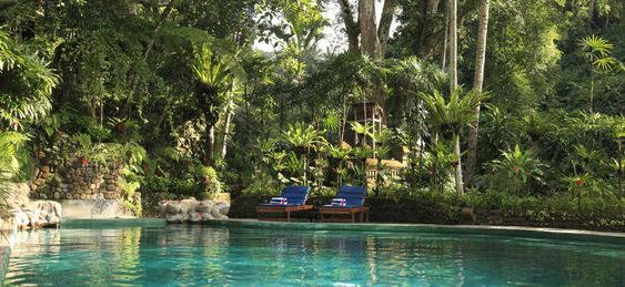 Hotel Tjampuhan Spa Hot pool caves and waterfall view and sound for open air massage over looking small river $25 usd