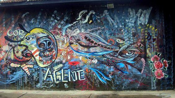 Pintura Coletiva ao vivo, mais de 15 pessoas juntando! Espaço: Tem Gente Teatrando, Bruna Rizzotto, Movimento CORagente. Caxias do Sul - RS - 2015.