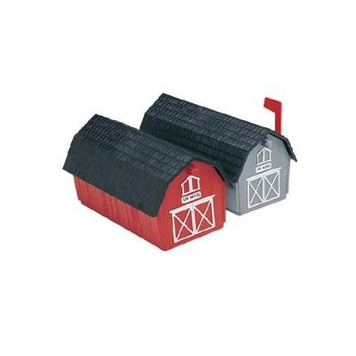 Flambeau Barn Style Post Mounted Mailbox - How fun are these??