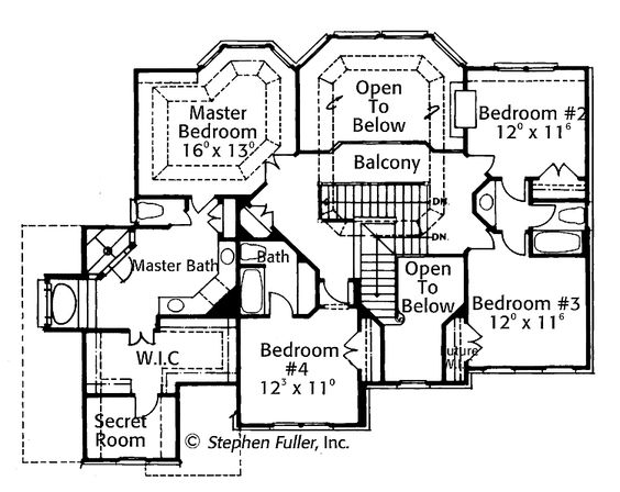House with secret rooms plans
