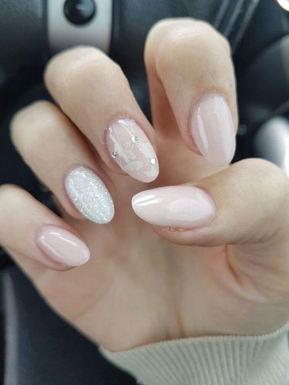 67 Short And Long Almond Shape Acrylic Nail Designs Awimina Blog In 2020 Natural Almond Nails Pink Nails Light Pink Nail Designs