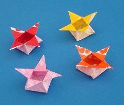 starburst wrapper origami star boxes hinamatsuri girls