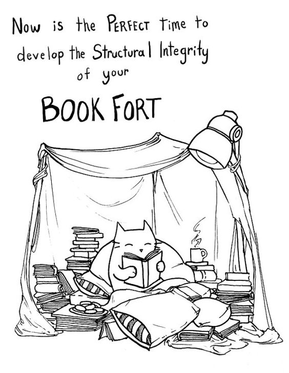Now is the perfect time to develop the structural integrity of your Book Fort!