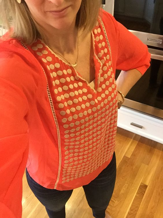 Stitch Fix Stylist:  Stitch Fix Collective Concepts Adela Embroidered Split Neck Blouse