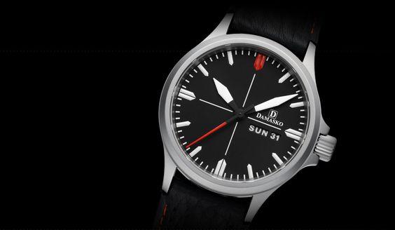 DA 34 - Klassische Drei-Zeiger-Modelle - Drei-Zeiger-Uhren - Modelle   Uhrenmanufaktur Damasko