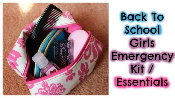 Back To School: Girls Emergency Kit Essentials!