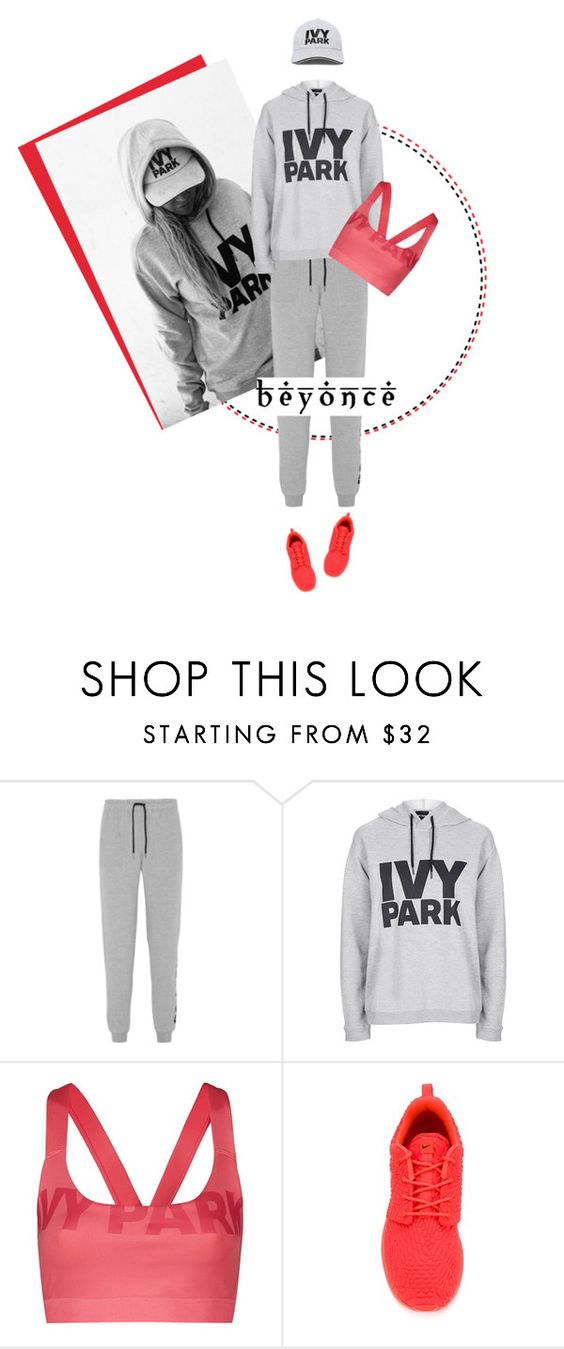 """""""Untitled #2736"""" by deeyanago ❤ liked on Polyvore featuring Ivy Park, Topshop, NIKE, Beyonce, Workit and IvyPark"""