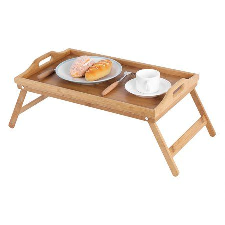 Home Bed Tray Serving Table Bamboo Bedding