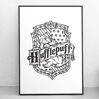 Harry Potter Art Print Hufflepuff Crest