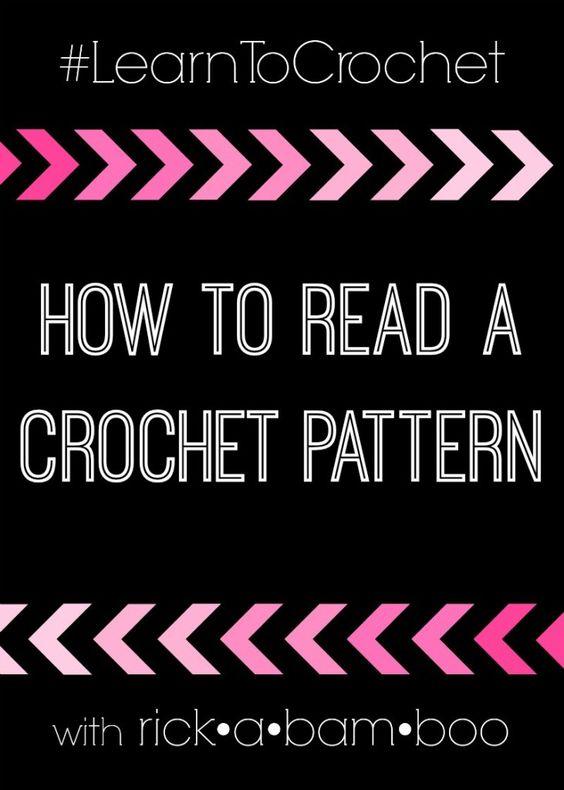 How to Read a Crochet Pattern   rickabamboo.com   #learntocrochet #crochet  #patterns