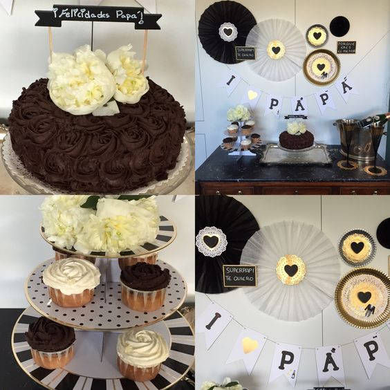 Fiestas on pinterest - Decoracion en blanco y negro ...