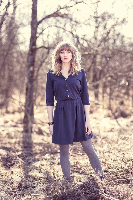 LAUGHING DOVE - Kleid - Dress - dark blue
