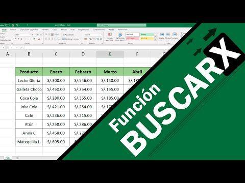 Como Usar La Función Buscarx En Excel Youtube Consejos De Blog Computacion Informática