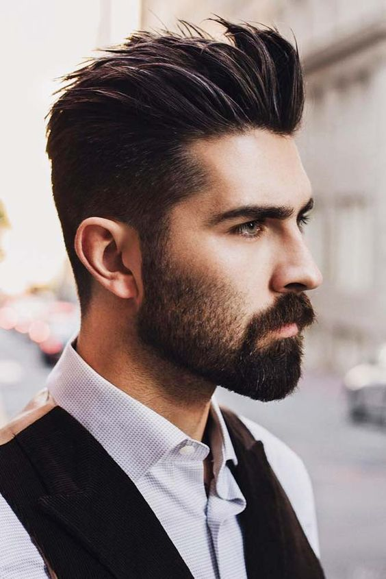 24 Modern And Attention Grabbing Spiky Hair Ideas For Men Beard Styles Short Mens Hairstyles Short Beard Styles