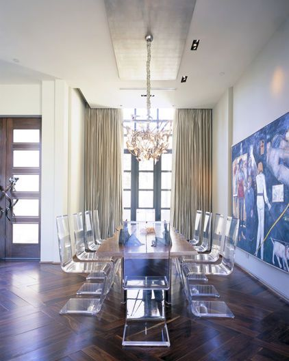modern dining room by Jamie Herzlinger