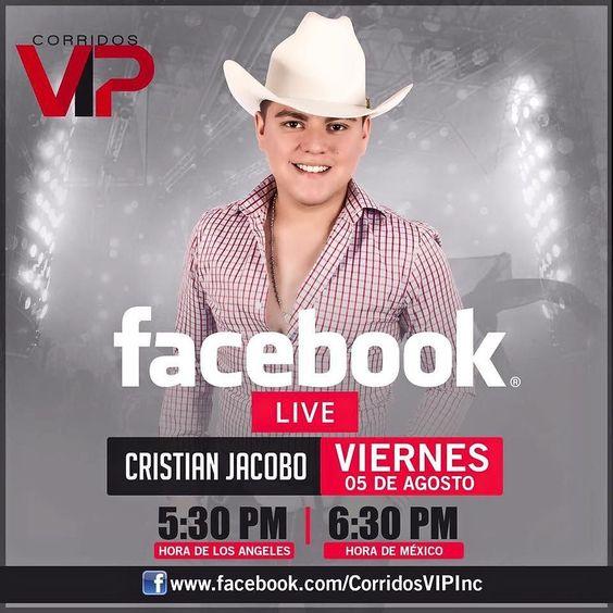No se pierdan el en vivo en nuestra página de Facebook @soycristianjacobo #soycristianjacobovip