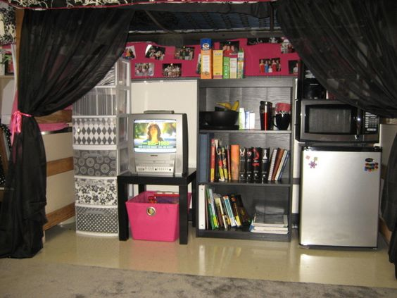 Under A Lofted Bed They Used Scrapbook Paper In The Clear