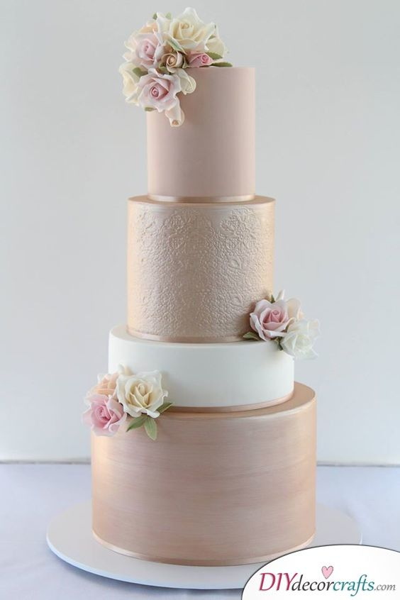 Simple And Modern Elegant Wedding Cake Ideas Modern Wedding Cake Pink Wedding Cake Wedding Cake Decorations